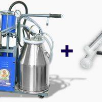 Доильный аппарат Доюшка 2 в 1 для коров и коз